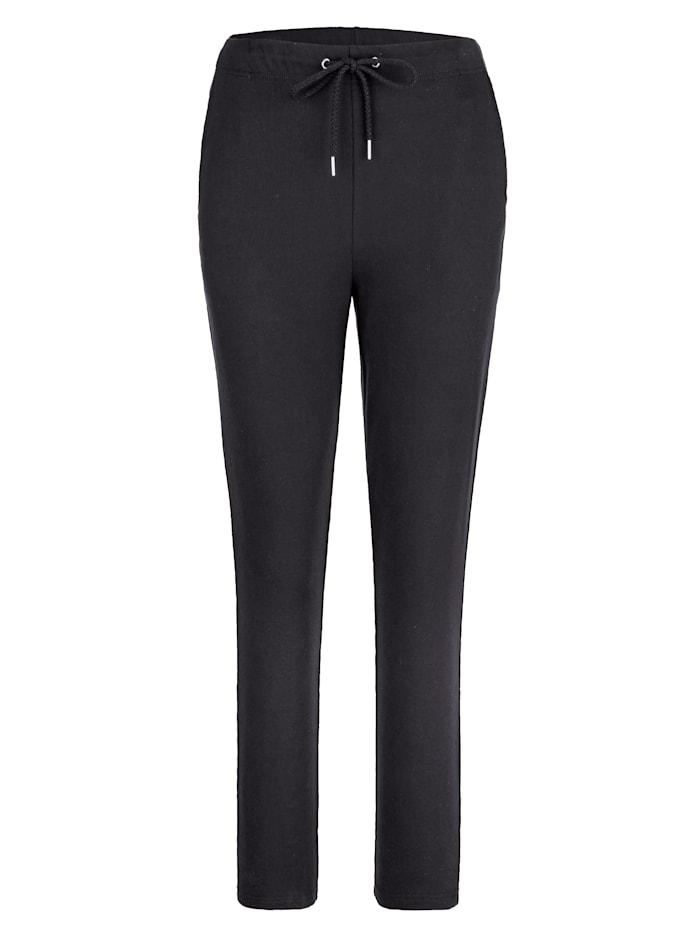 Harmony Pantalon de loisirs en coton confortable, Noir