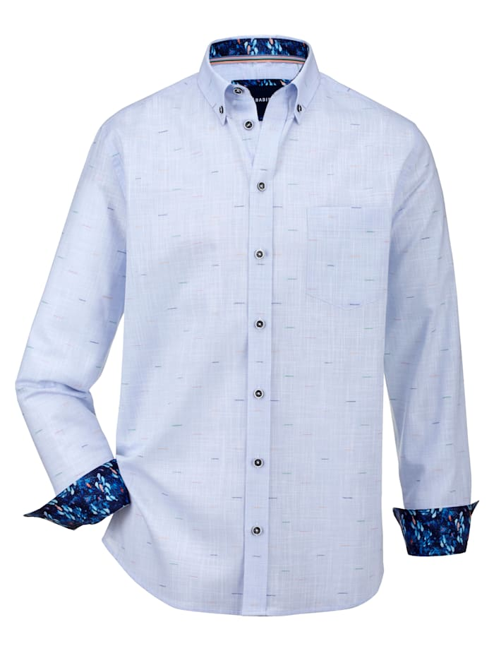 BABISTA Hemd mit Effektgarn, Hellblau