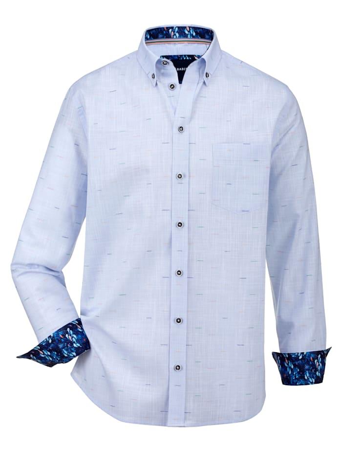 BABISTA Skjorta med melerade effekter, Ljusblå