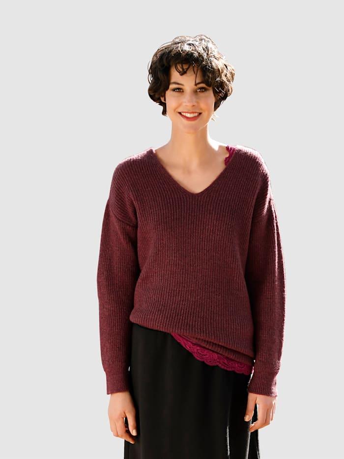 Dress In Pullover in schöner Farbgebung, Fuchsia