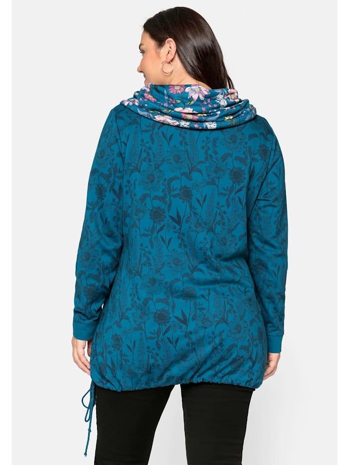 sheego by Joe Browns Sweatshirt mit Schlauchkragen, allover bedruckt