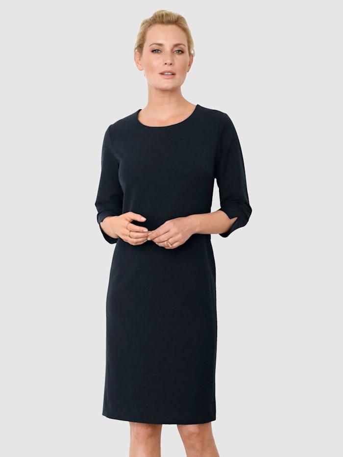 MONA Robe de coupe classique, Marine