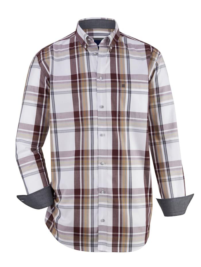 BABISTA Overhemd van zuiver katoen, Wit/Bordeaux