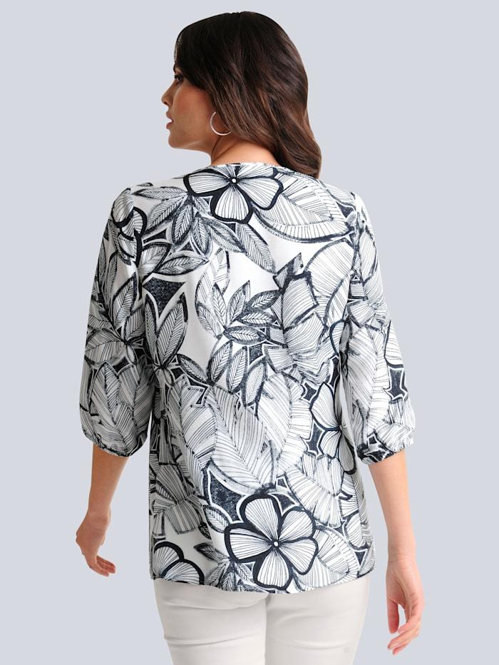 Bluse mit schönem Blumenprint allover