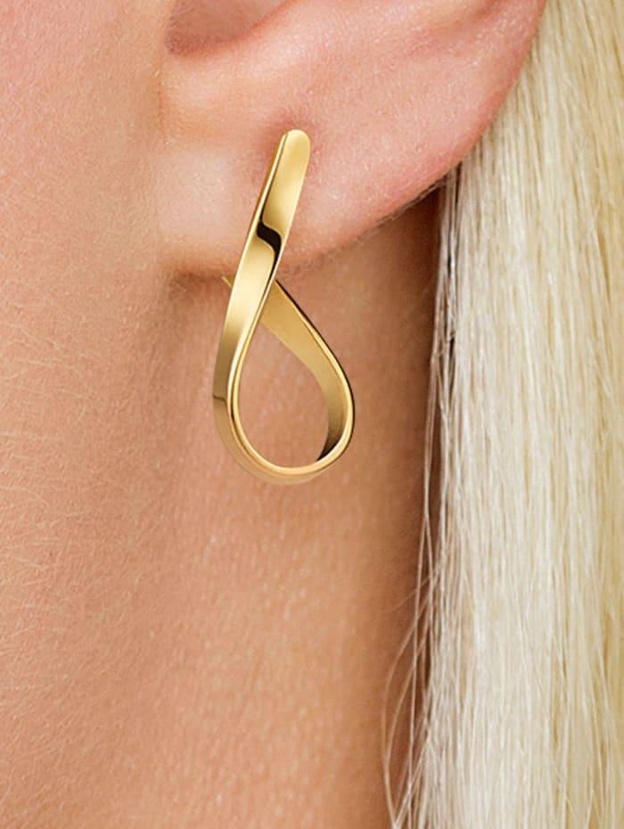 Boucles d'oreilles en or jaune 585