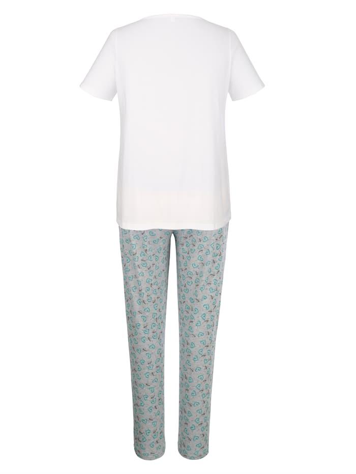 Schlafanzug mit modischem Druckmotiv