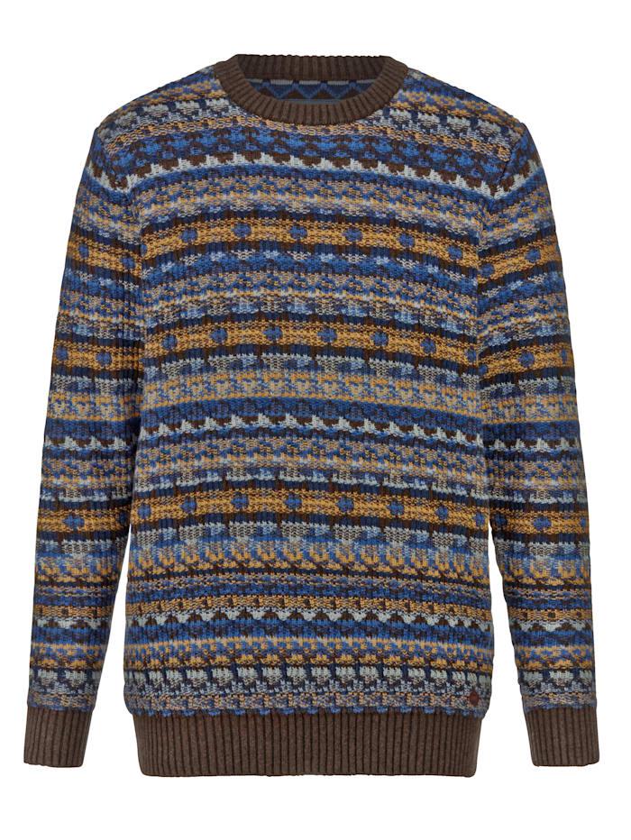 BABISTA Pullover aus Strukturstrick, Braun/Blau