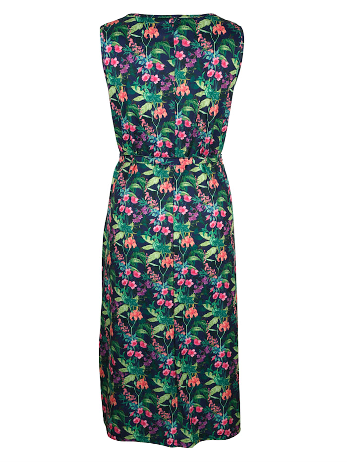 Jerseyklänning i blommigt