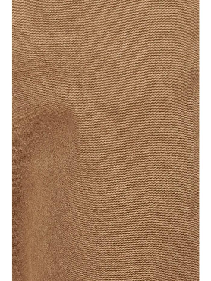 Dehnbund-Hose 'Louisa Button' mit unifarbenem Stoff