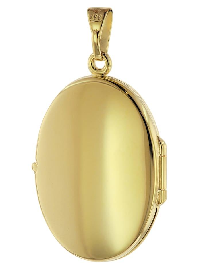 Medaillon mit Gravur Gold 333 / 8K