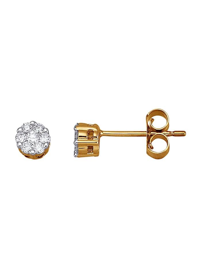 Amara Diamants Boucles d'oreilles avec brillants, Blanc