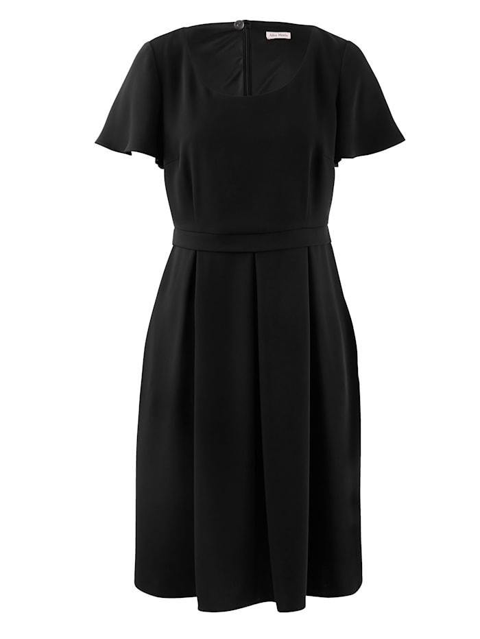 Alba Moda Kleid aus hochwertiger, creppiger Ware, Schwarz