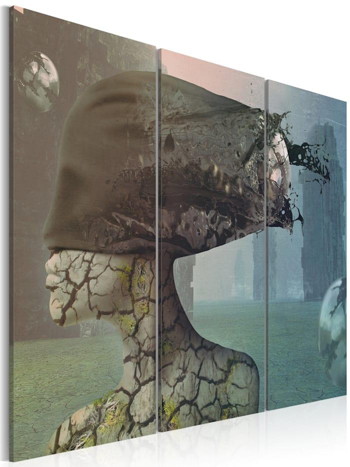 artgeist Wandbild Brainstorm - triptych, Himmelblau,Grau