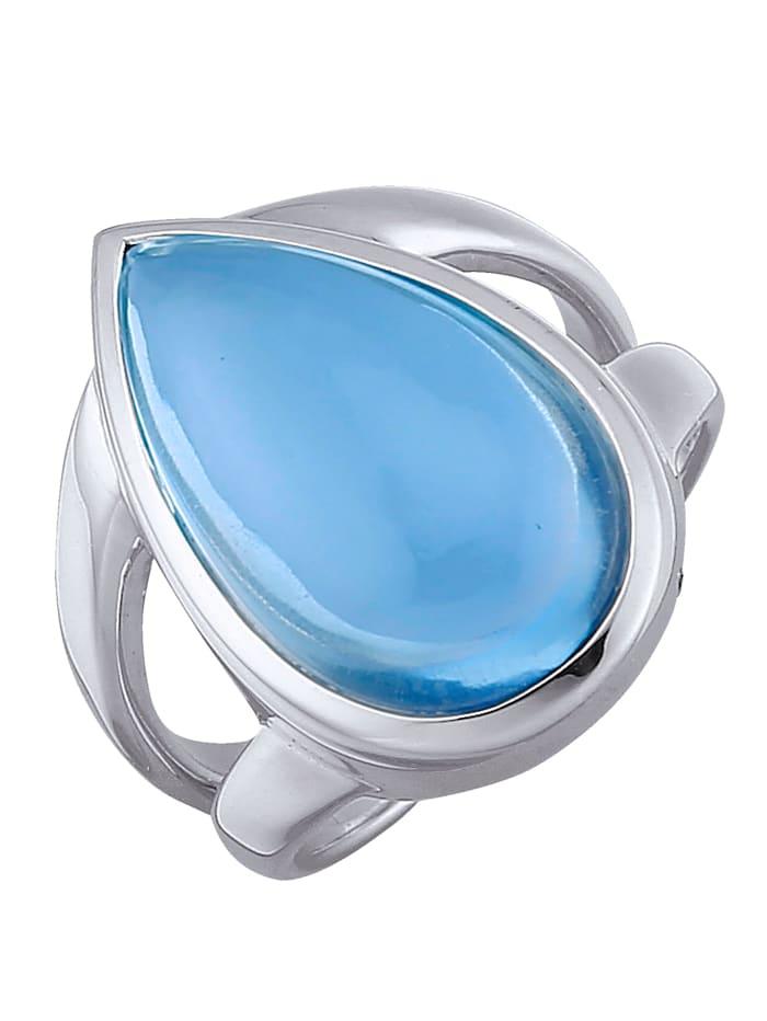 Jamelli Bague à cabochon de quartz, Bleu