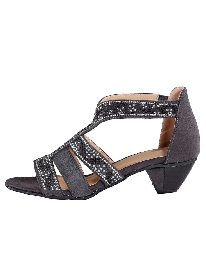 Sandale mit seitlichem Klettriegel