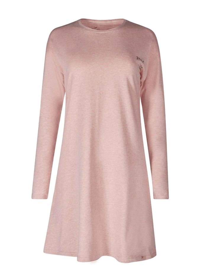 Skiny Langarm-Sleepshirt, Rosedawn Melange