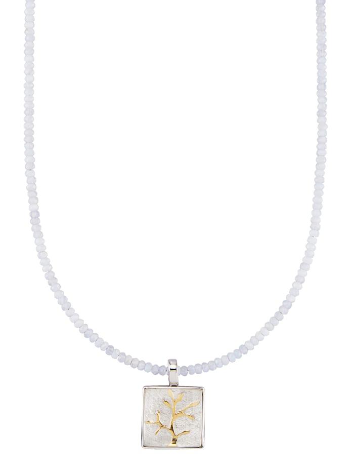 Yvette Ries Anhänger mit Kette mit Kristall, Grau