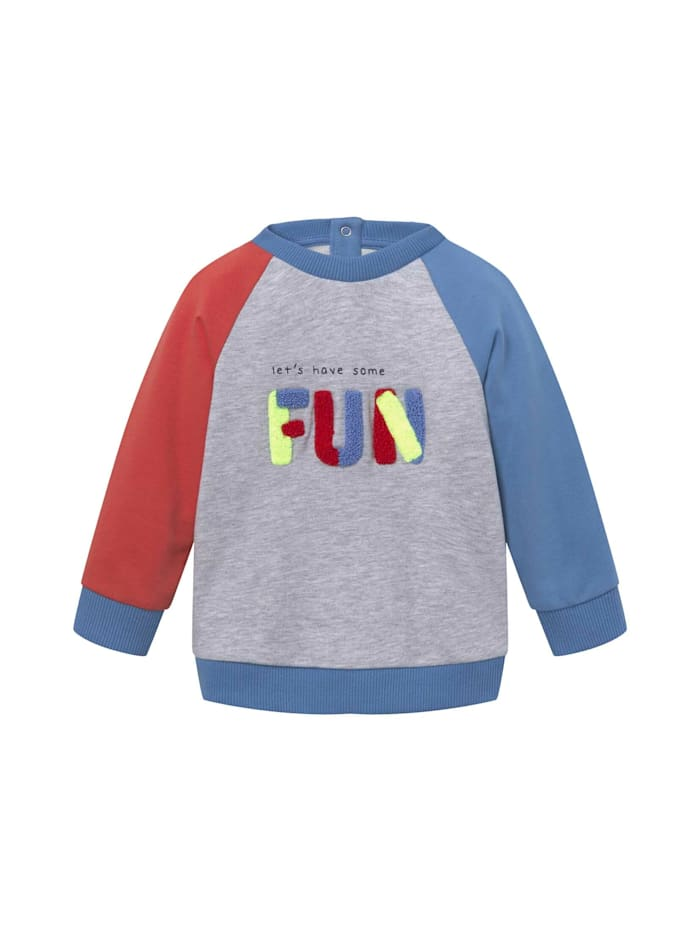 Tom Tailor Buntes Sweatshirt mit Artwork, chalky azure|blue