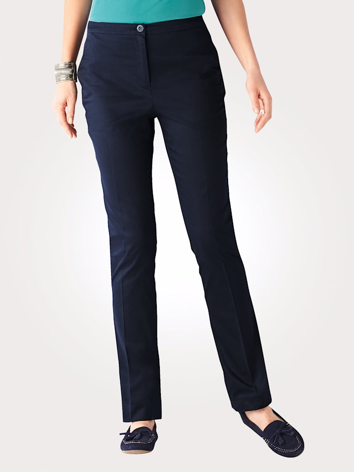 Stretch cotton sateen trousers with a hint of stretch for extra comfort