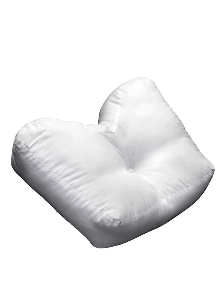 Oreiller ergonomique pour dormir sur le côté, Blanc