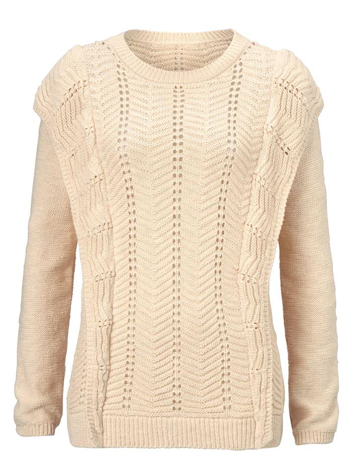 SIENNA Pullover, Creme-Weiß