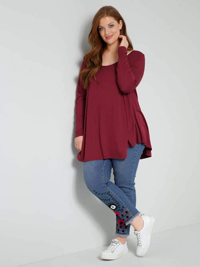 Sara Lindholm Shirt in A-Shape, Granatrot