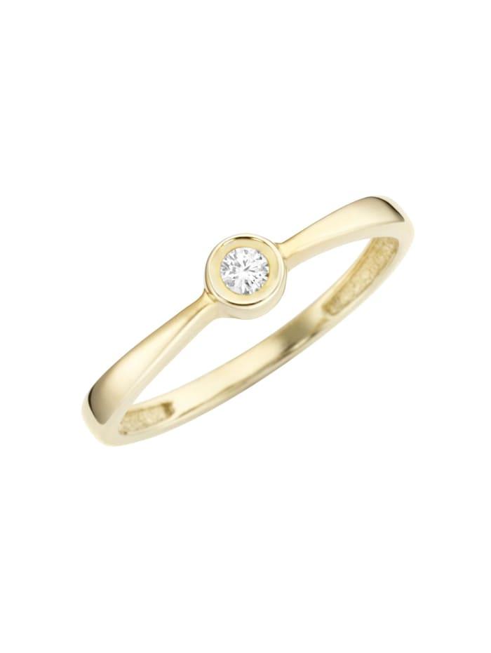 Luigi Merano Ring mit Brillant, Gold 585, Gold