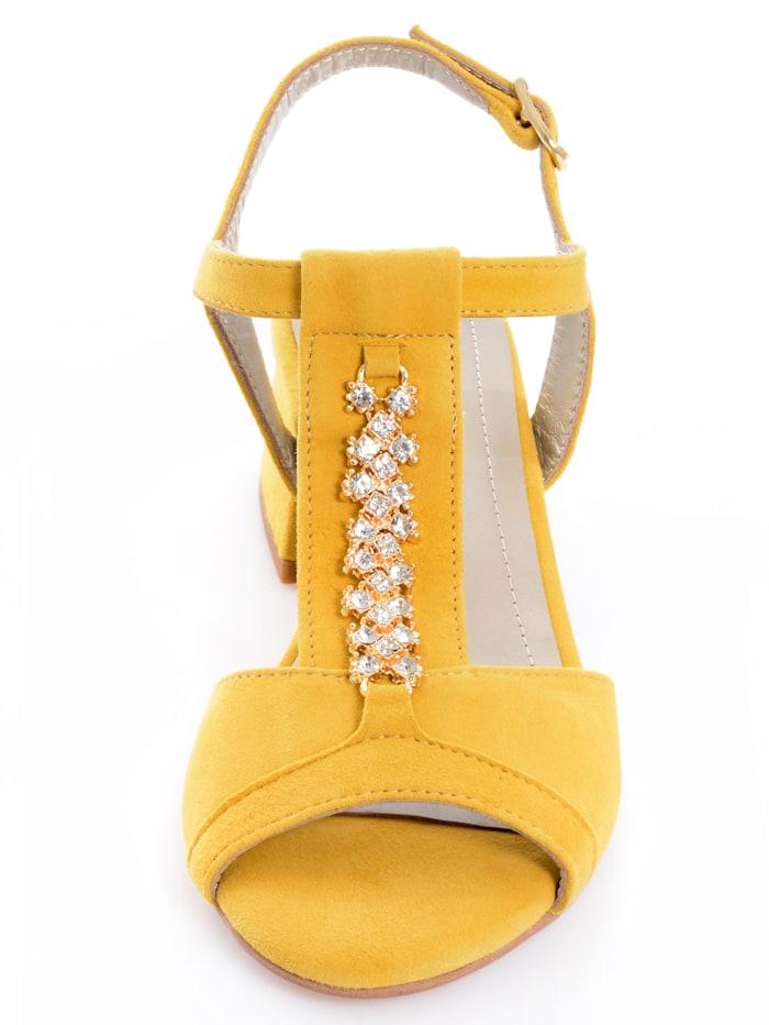 Sandalette mit Schmuckapplikation