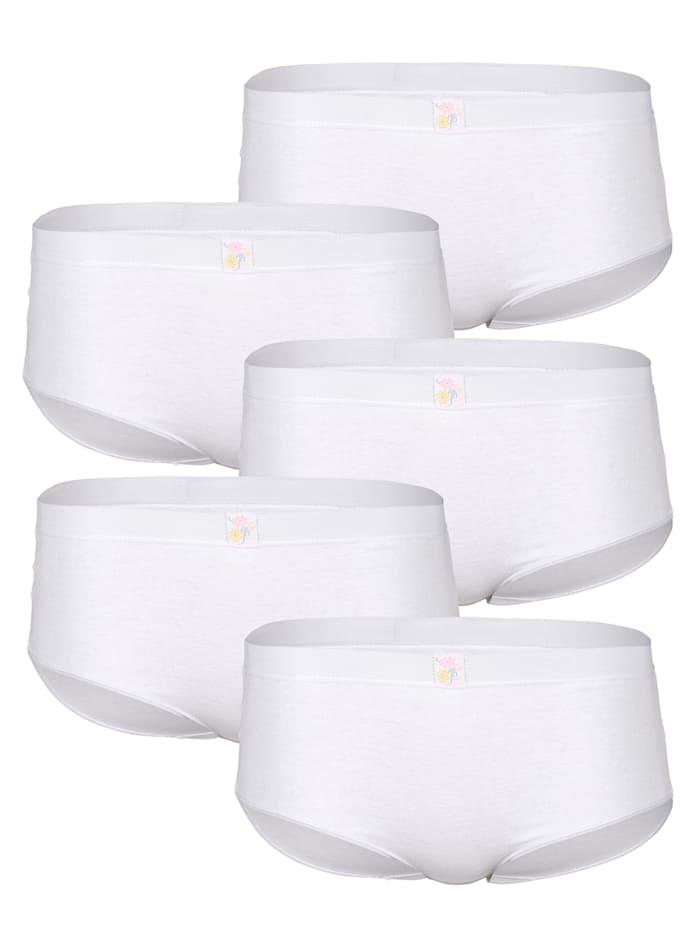 Full Briefs Elasticated waistband for comfort and security Pack of 5