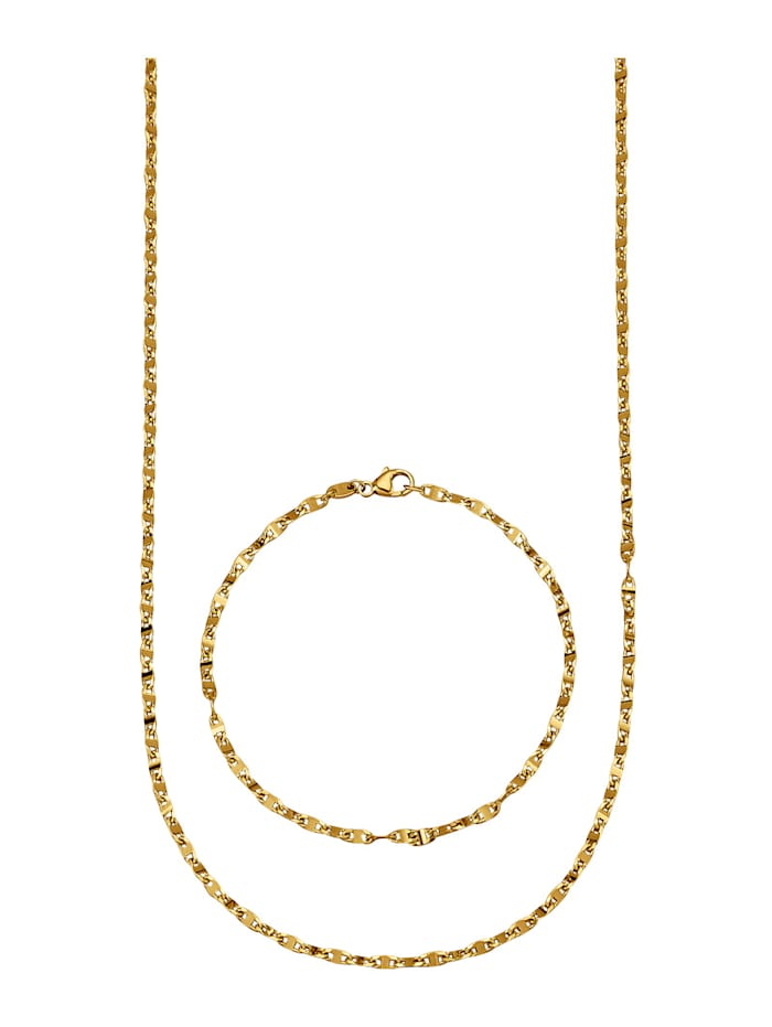 Amara Or Parure de bijoux 2 pièces en or jaune 585, Coloris or jaune