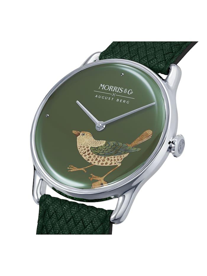 Uhr MORRIS & CO Silver Bird Green Perlon 30mm