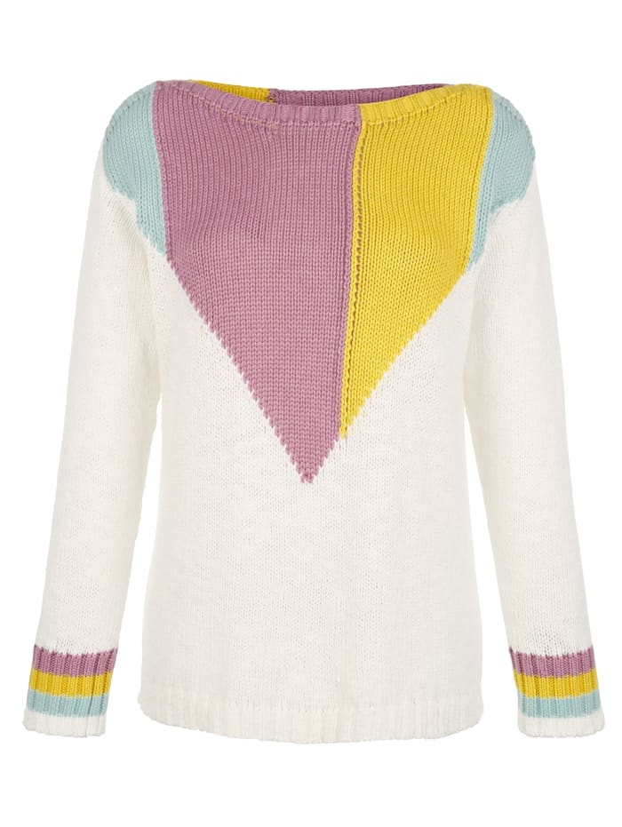AMY VERMONT Pullover mit Colorblocking, Multicolor