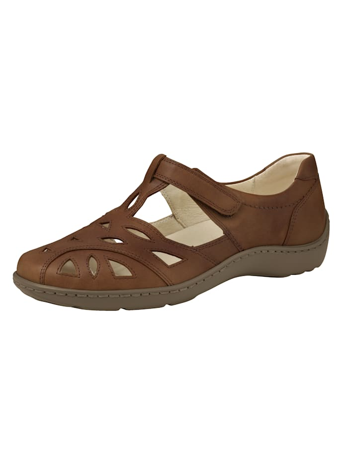 Waldläufer Slip-On Sandals, Cognac