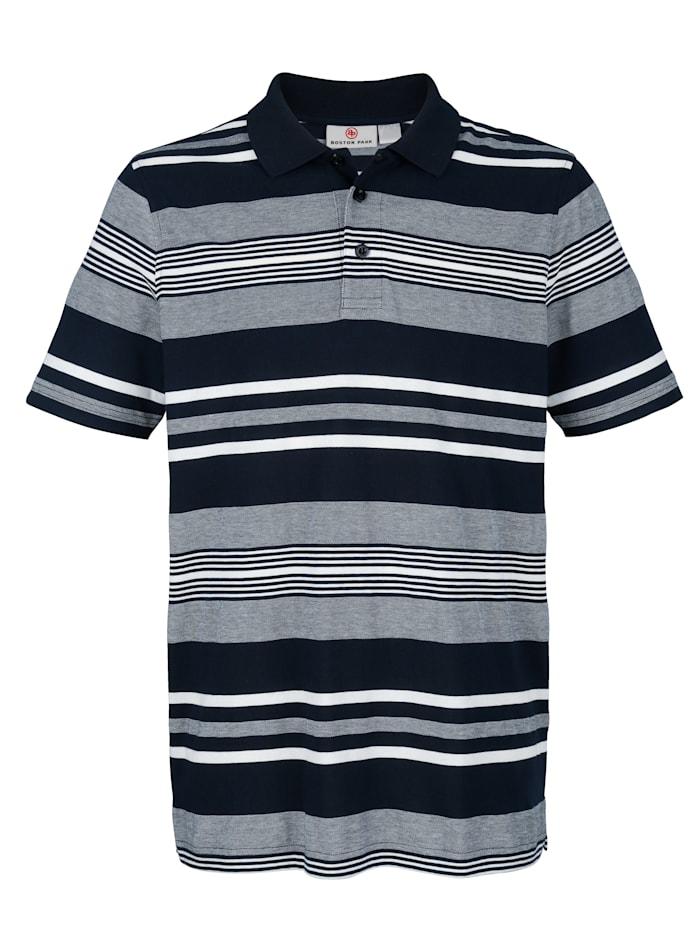 Poloshirt mit garngefärbtem Jacquardstreifenmuster