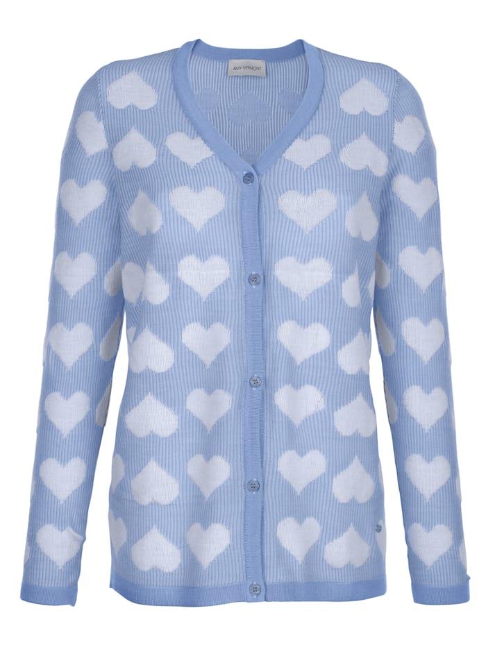 Vest met hartjesprint rondom