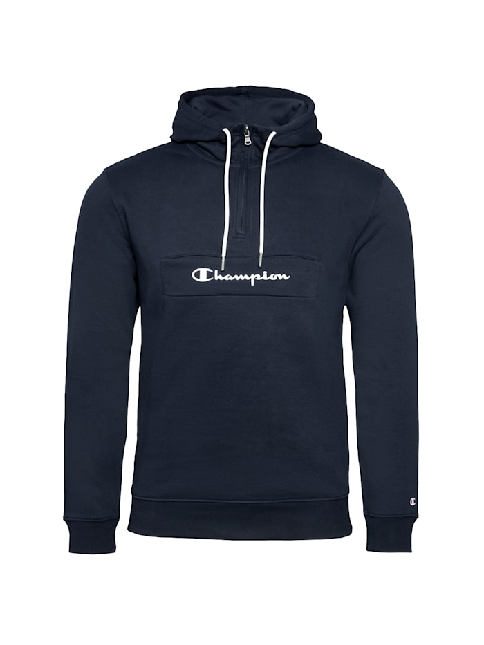 Champion Kapuzenpullover Hooded Half Zip, blau