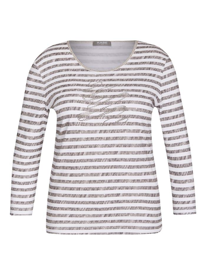 Rabe Shirt mit Ringelmuster und Dekosteinen, TRUEFFEL