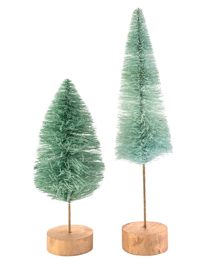 IMPRESSIONEN living Weihnachtsbaum-Set, 2-tlg., türkis/grün
