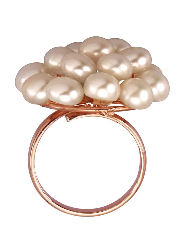 Bague avec perles de culture d'eau douce