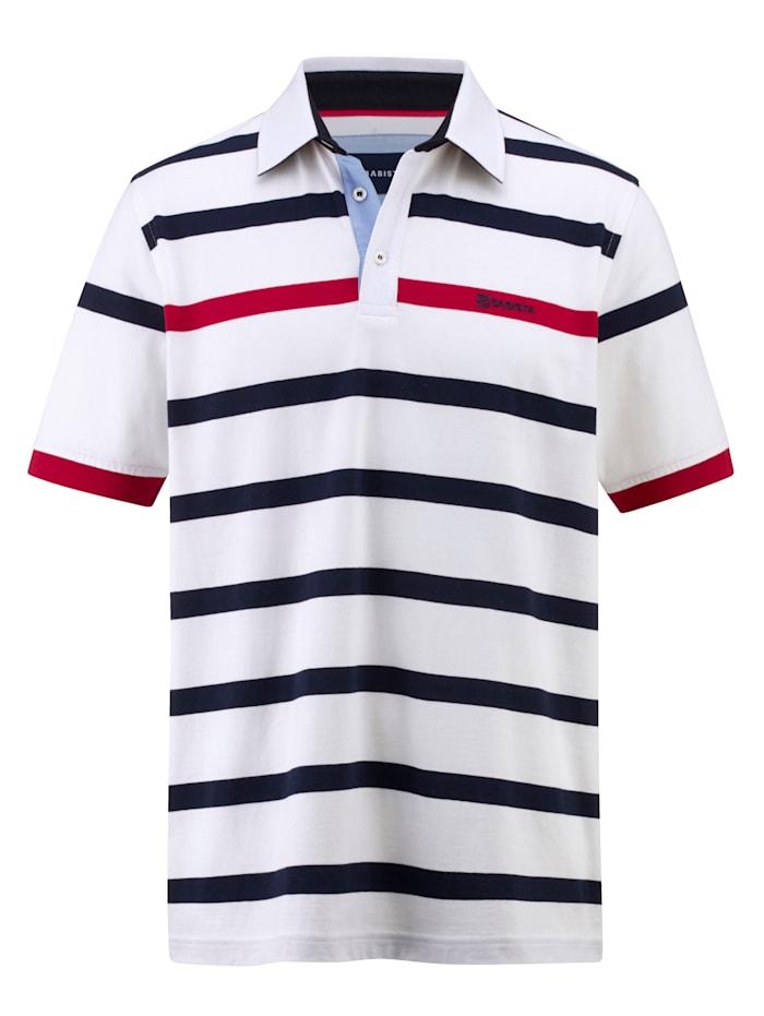 BABISTA Poloshirt met overhemdkraag, Wit/Marine