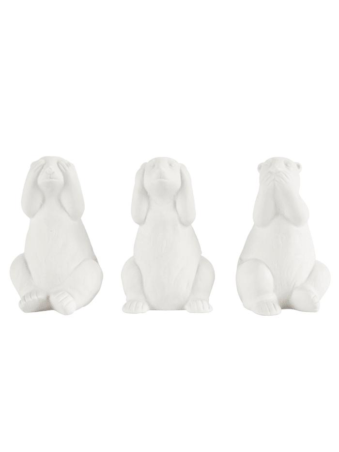 IMPRESSIONEN living Deko-Eisbären-Set, 3-tlg., weiß