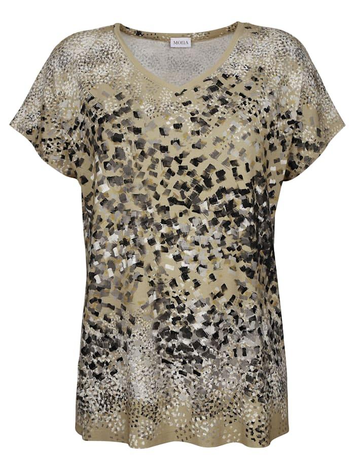 Shirt mit Tupfendruck in Aquarelloptik