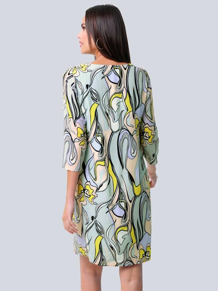 Kleid mit farbharmonischem Druck