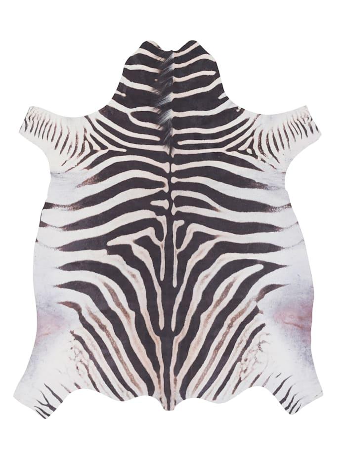 Pergamon Kunstfaser Teppich Zebra, Schwarz