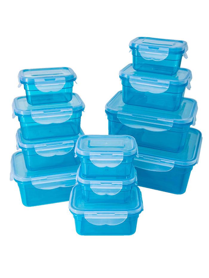 HELU Boîtes de conservation 22 pièces, bleu, Bleu