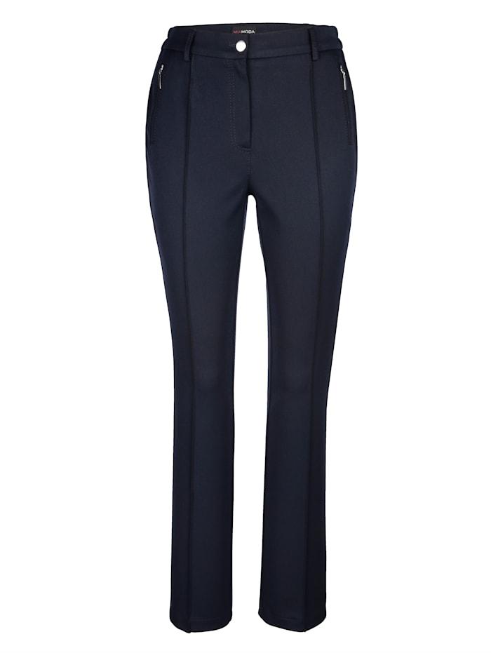 MIAMODA Hose mit Bauchweg-Effekt, Nachtblau