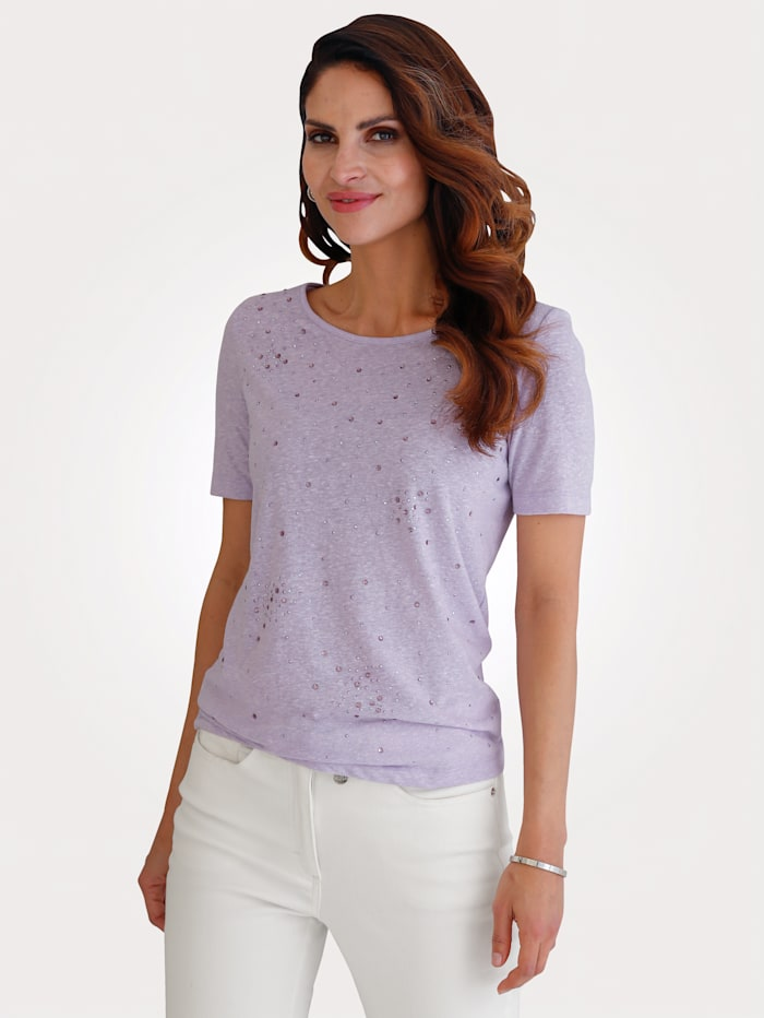 MONA Topp med glittrande strass, Lavendel