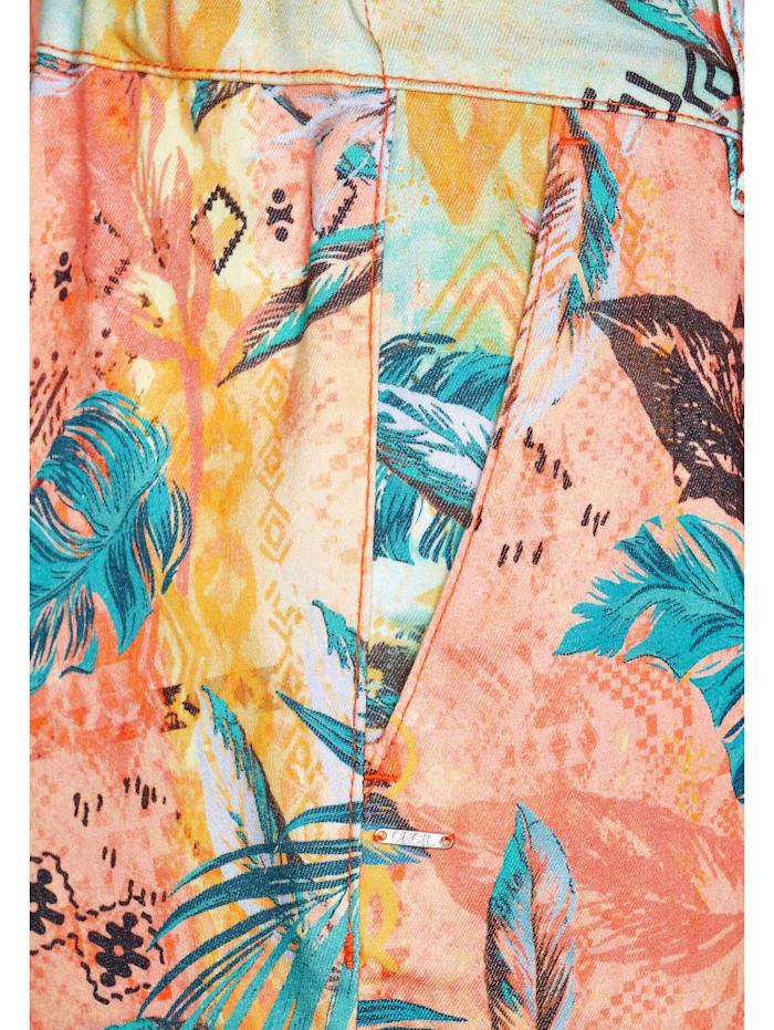 Shorts mit tropischem Muster mit Tropical-Print