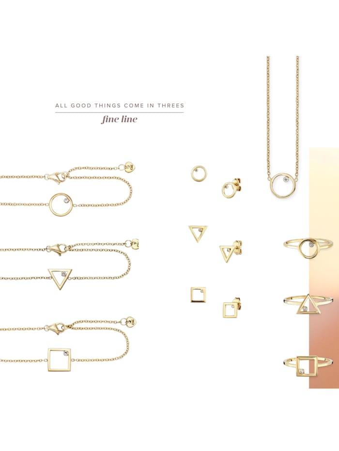 Ring 925/- Sterling Silber Zirkonia weiß vergoldet 925/- Sterling Silber