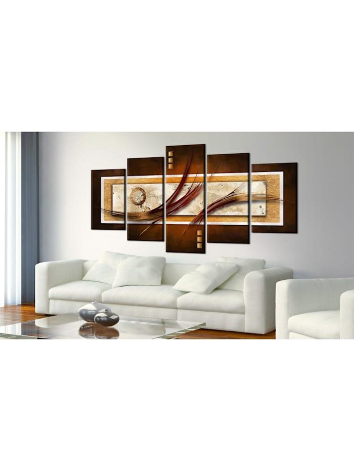 Wandbild Opalisierendes Braun